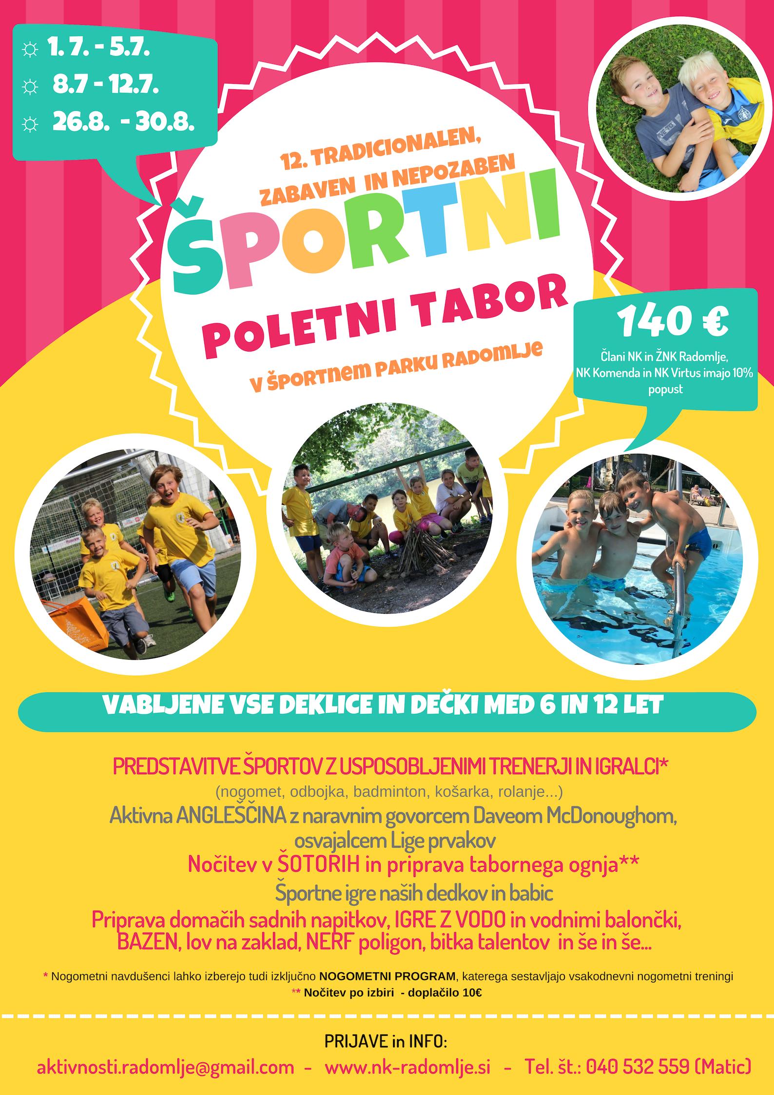 Športni poletni tabor 2019